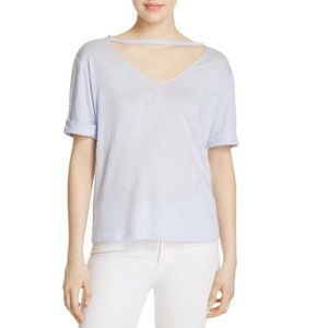 Honey Punch raw neck top size L